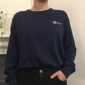 🍬 3/$30 Pepsi Embroidered Blue Long Sleeve